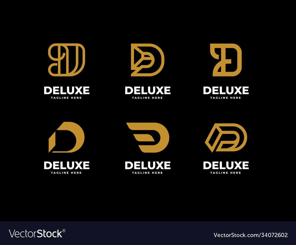 Creative professional trendy letter d logo