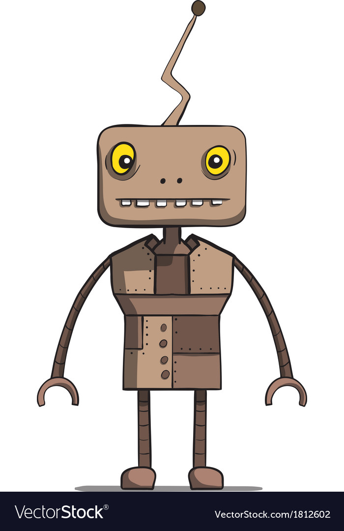 Funny cartoon robot