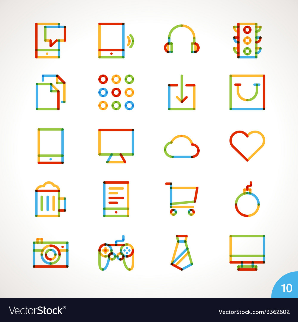 Highlighter Line Icons Set 10