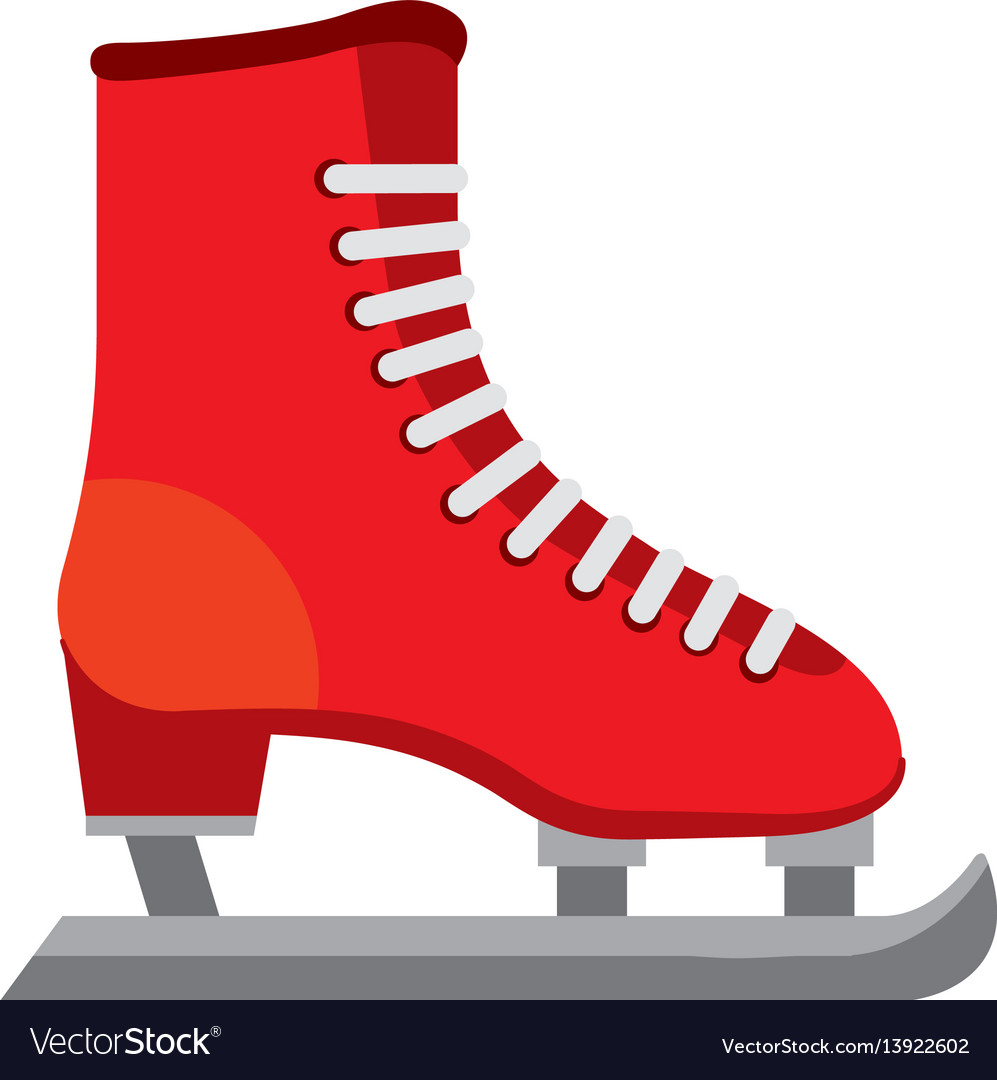 Ice skate isolated icon