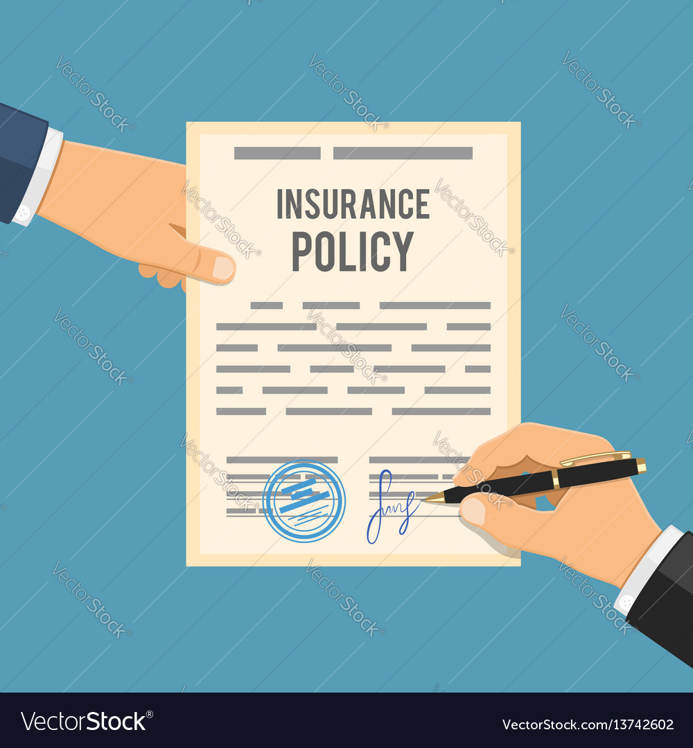 Man signs insurance policy