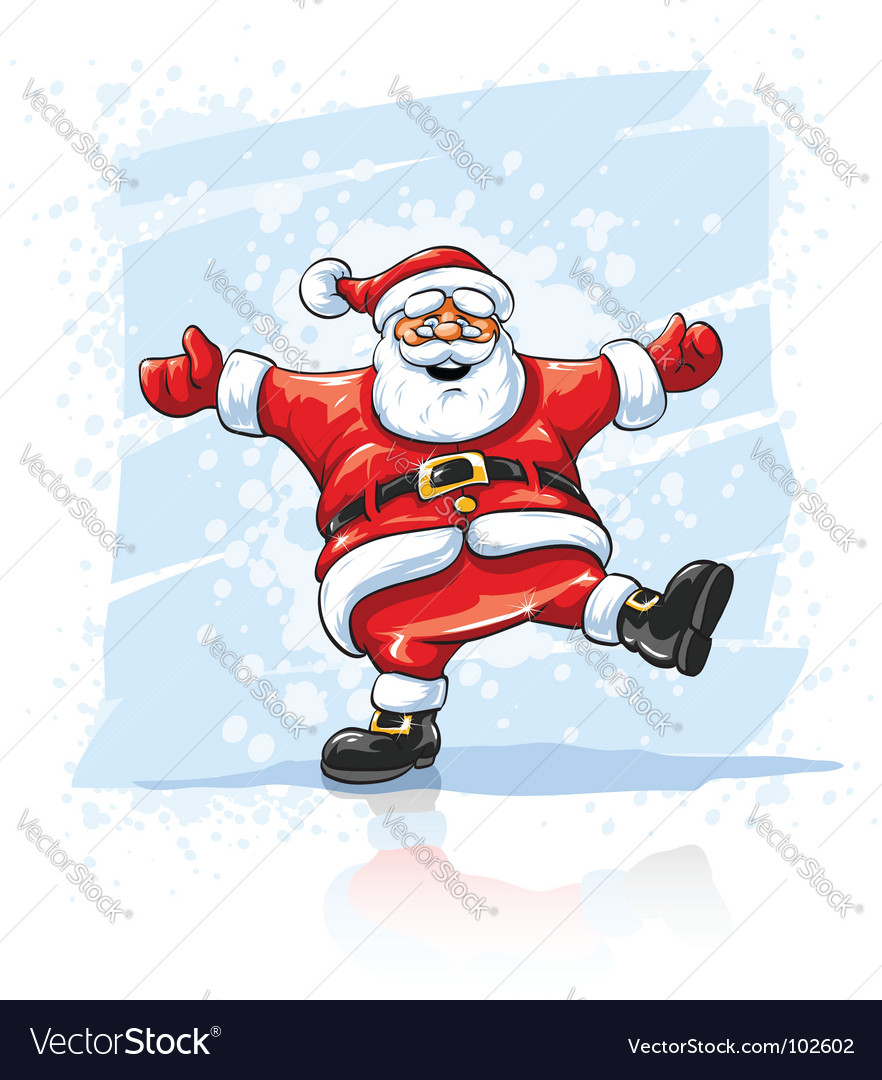 Christmas Dancing Santa.Merry Christmas Santa Claus Dancing