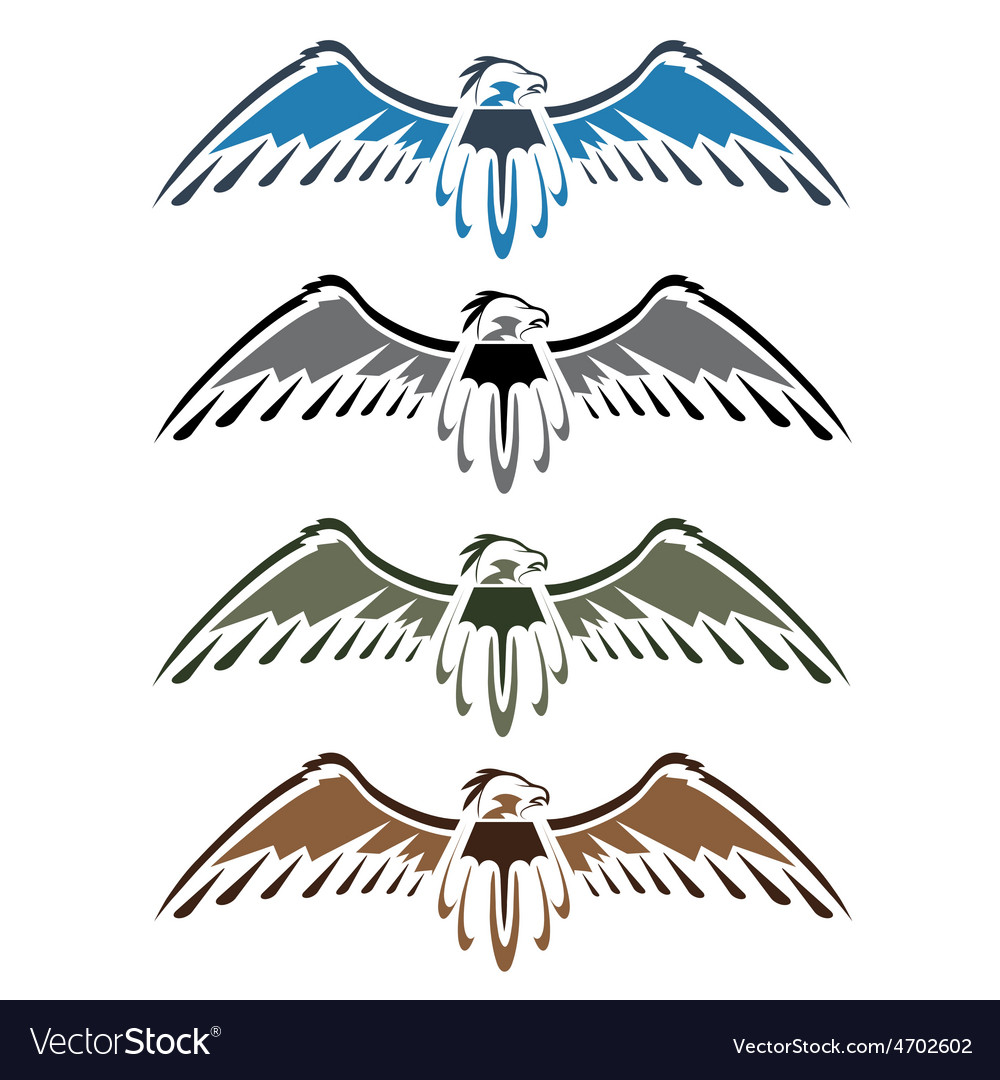 Set native american eagles