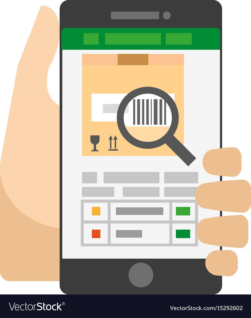 Useful Smartphone App For Barcode Scanning Vector Image