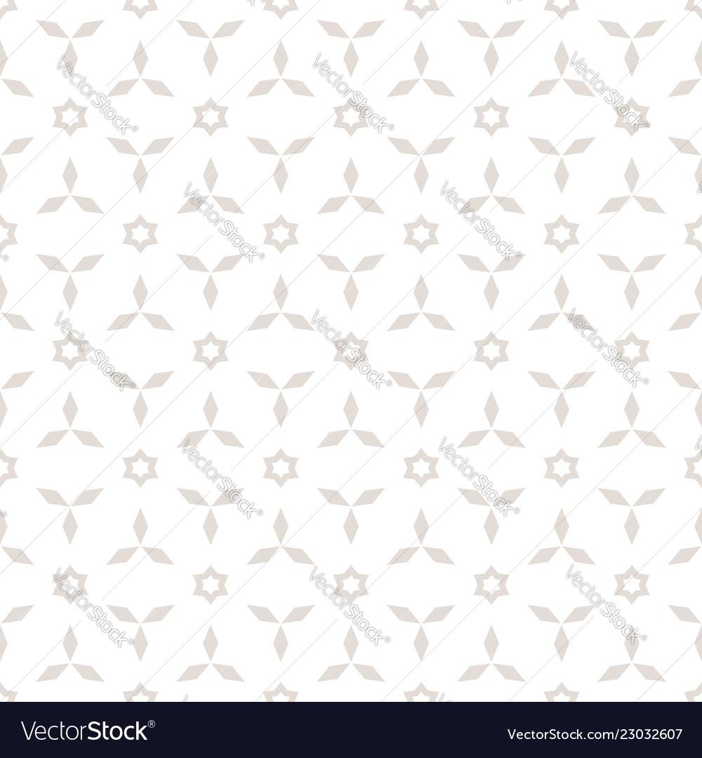 Floral minimal geometric seamless pattern
