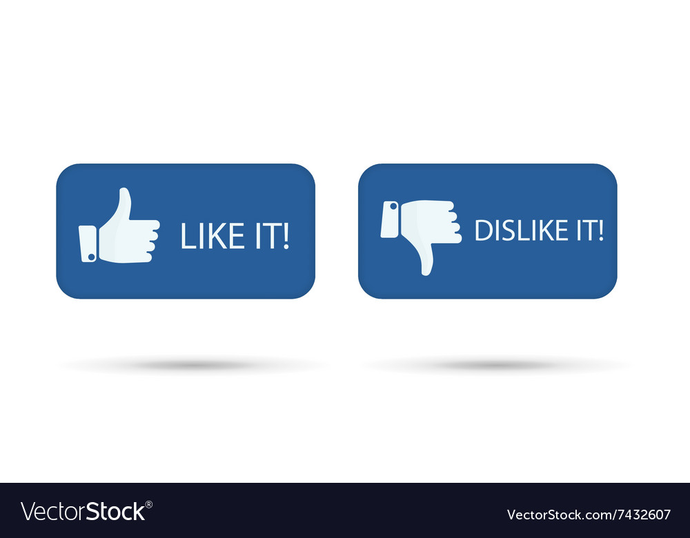 Like It And Dislike Symbol Button Isolated Vector Image