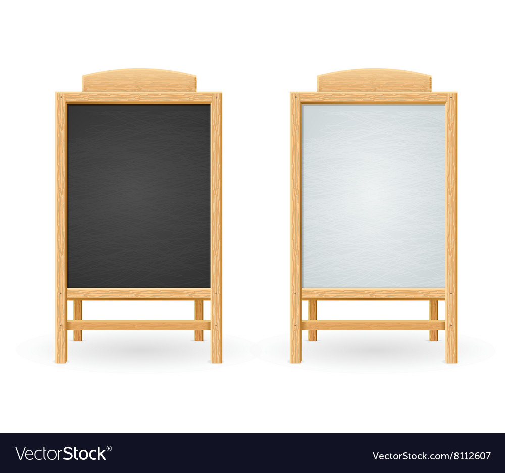 Menu Black and White Board Isolated vector image