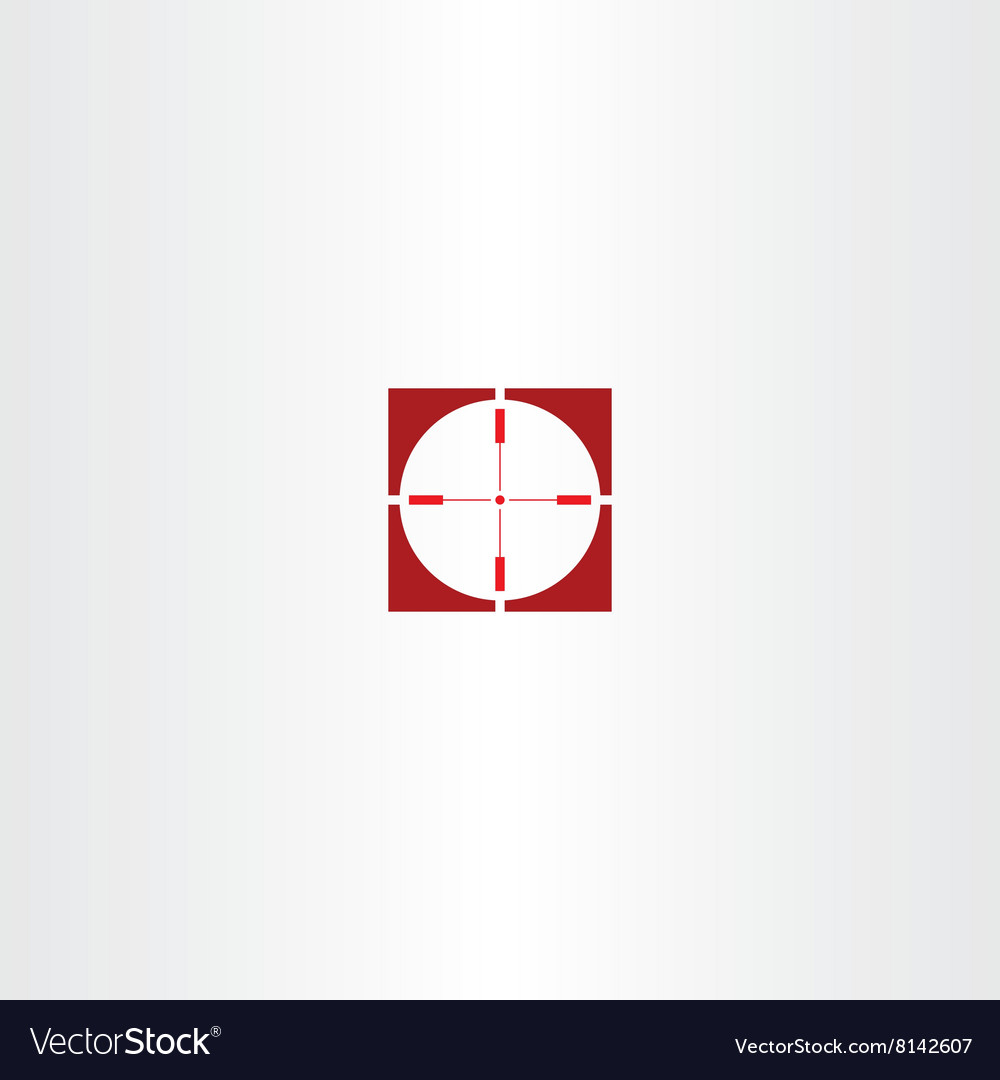 Red icon sniper target symbol