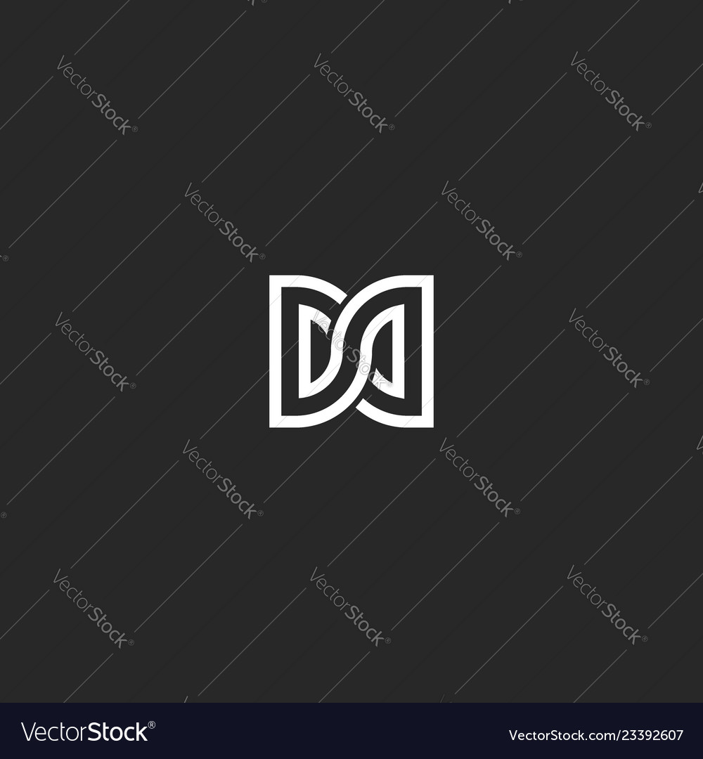 Two letters dd initials logo monogram combination