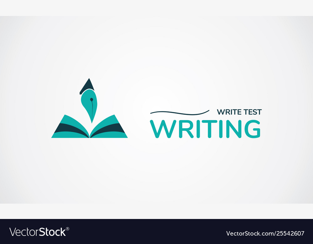 Write test logo creative symbol book and pen