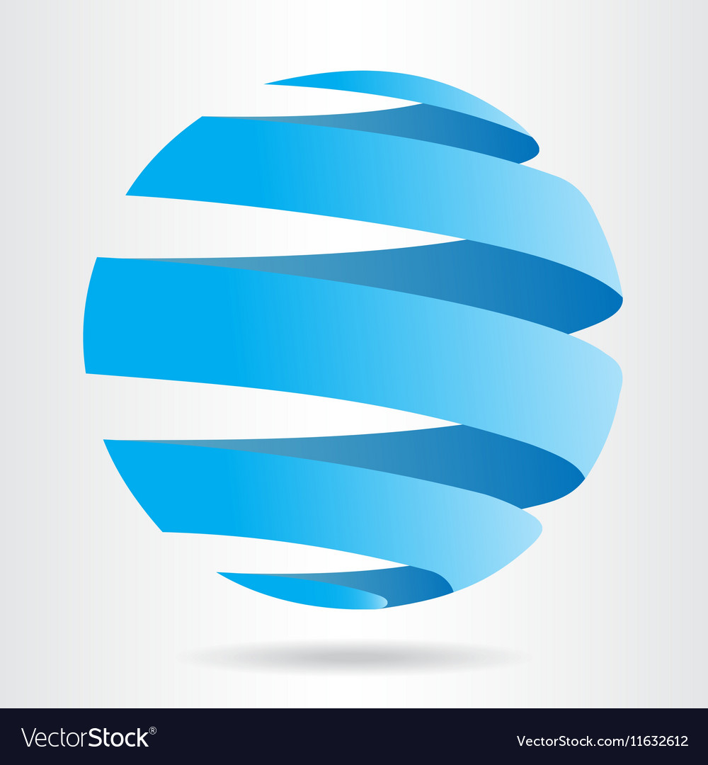 Abstract blue sphere icon ecology concept