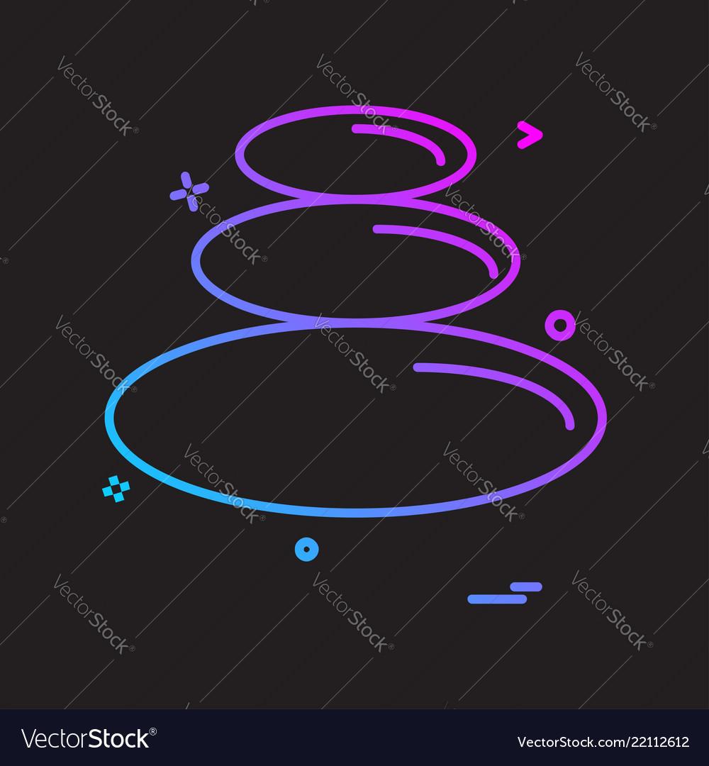 Circle shapes icon design
