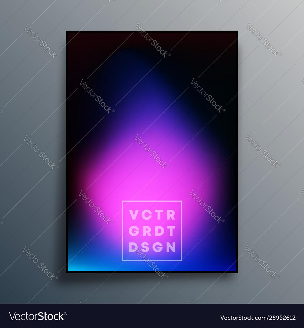 Colorful gradient texture poster design