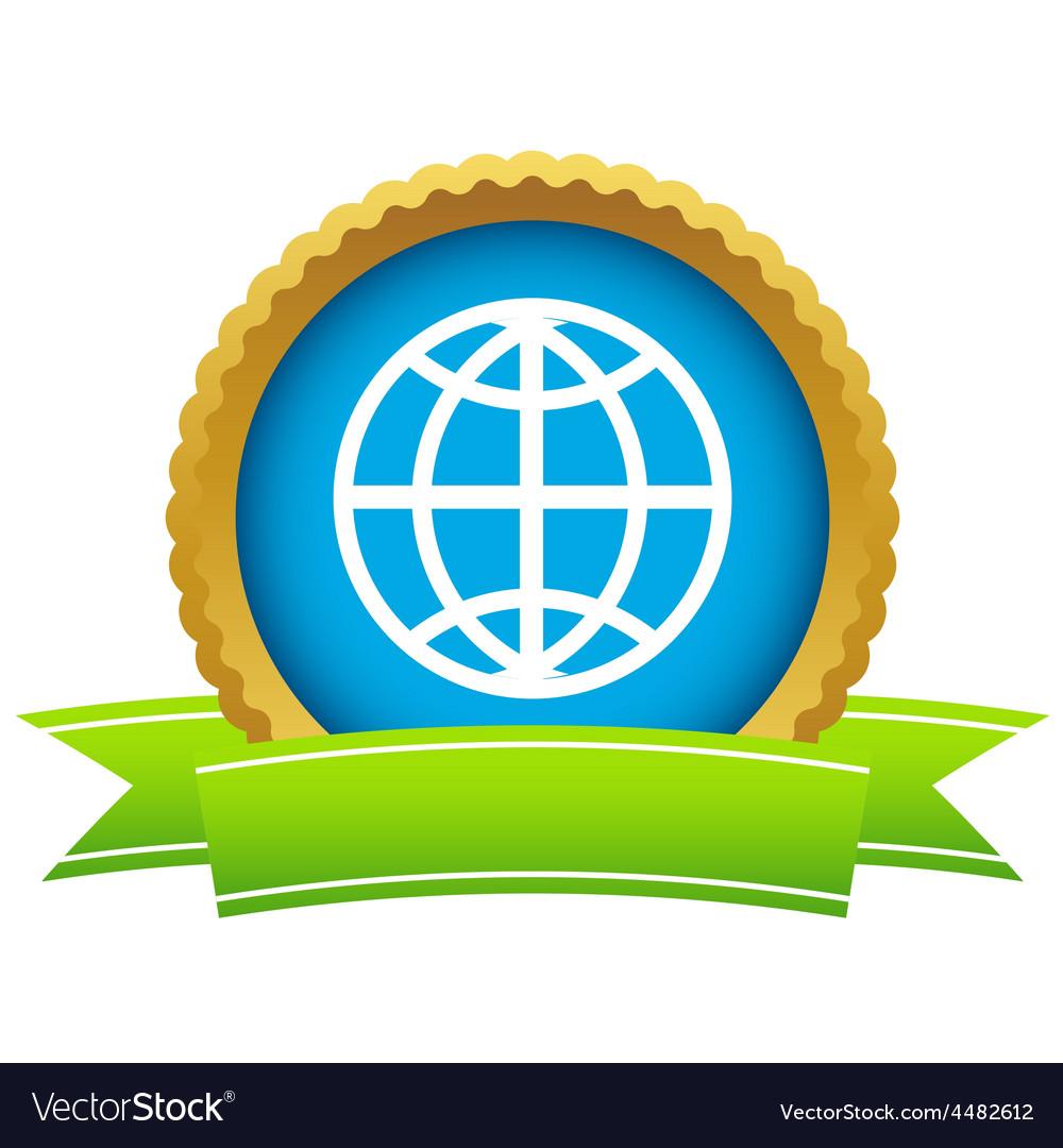 Gold world logo