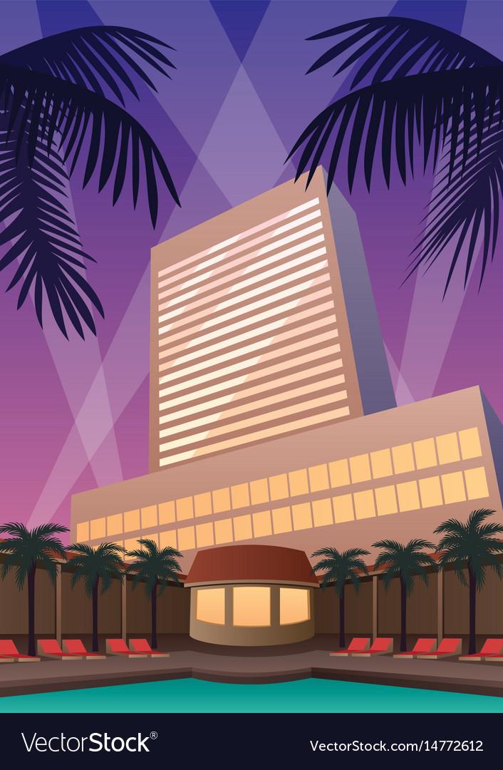 Hotel casino resort vector image