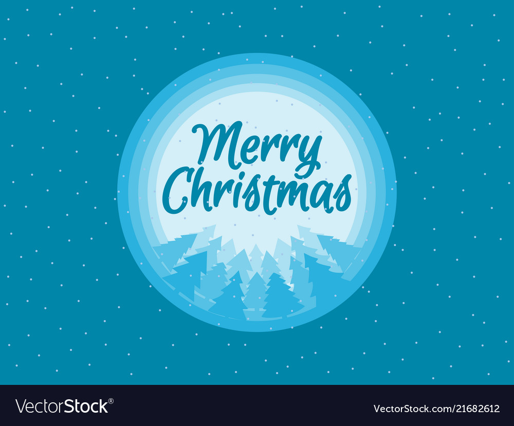 Merry christmas beautiful festive background Vector Image