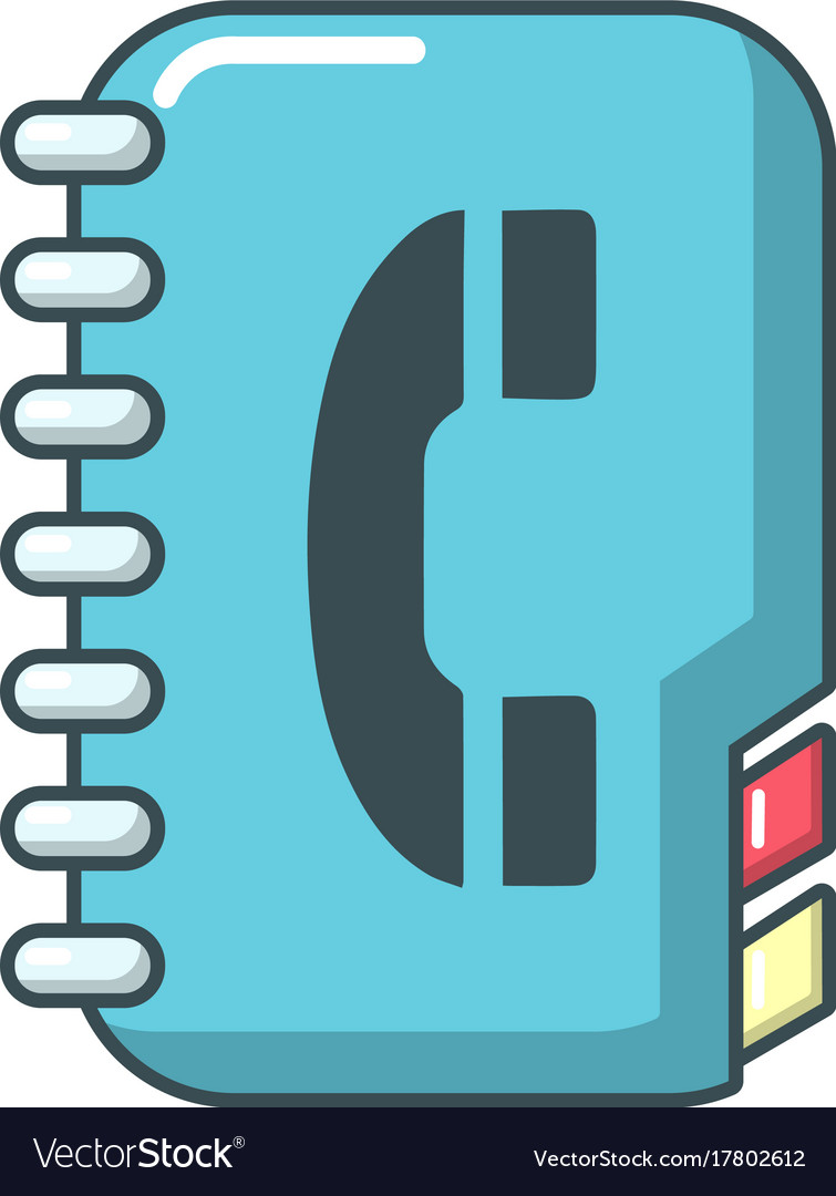 Phone book icon cartoon style