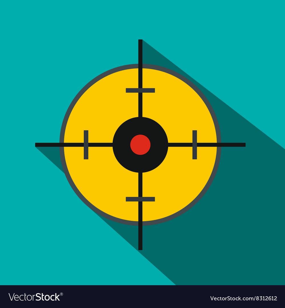 Radar screen icon flat style
