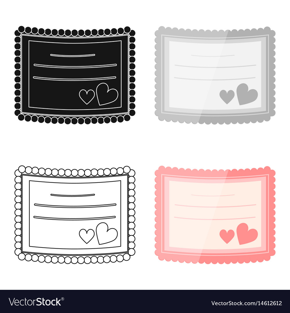 Wedding card icon of for web