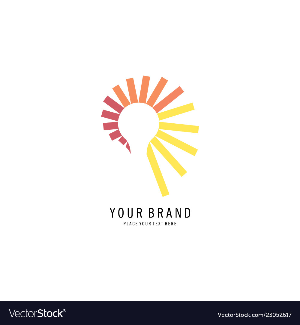 Abstract lamp logo