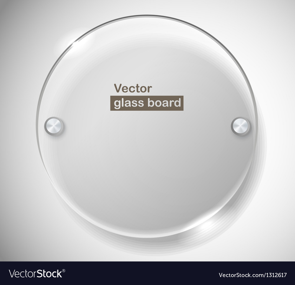 Circle advertising glass board vector image