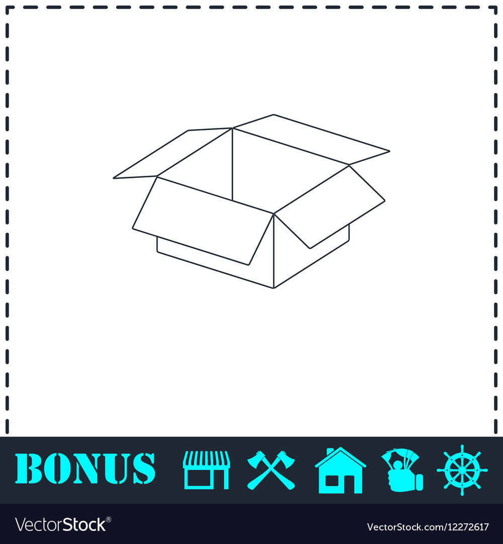 Open box icon flat