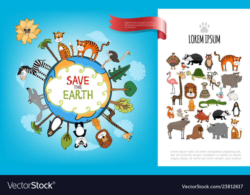 Save the earth flat concept
