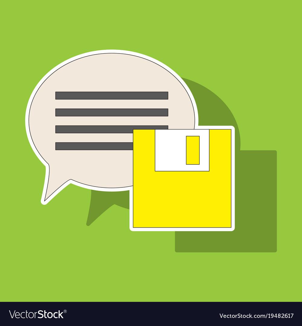 Sticker Text Message Icon Speech Bubble Symbol Vector Image