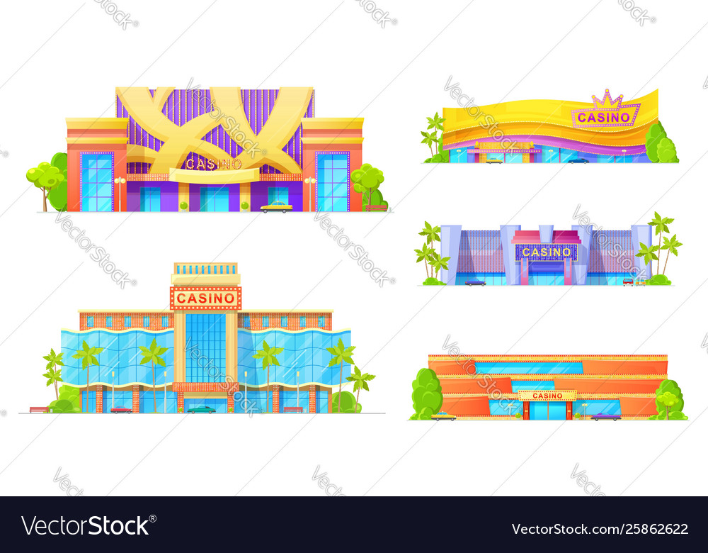 Gambling game houses casino exterior facade icon