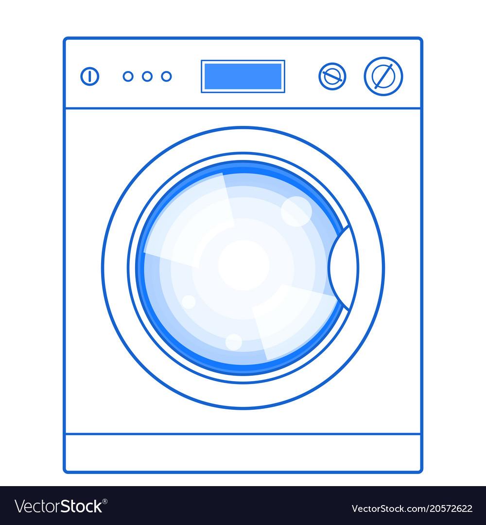 washing machine vector logo washing machine vector image royalty free vector image vectorstock