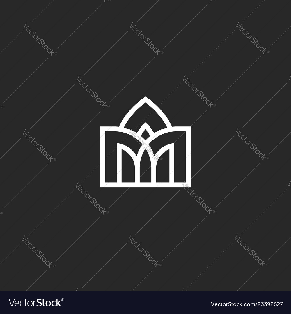 Abstract building logo vaulted arched design in