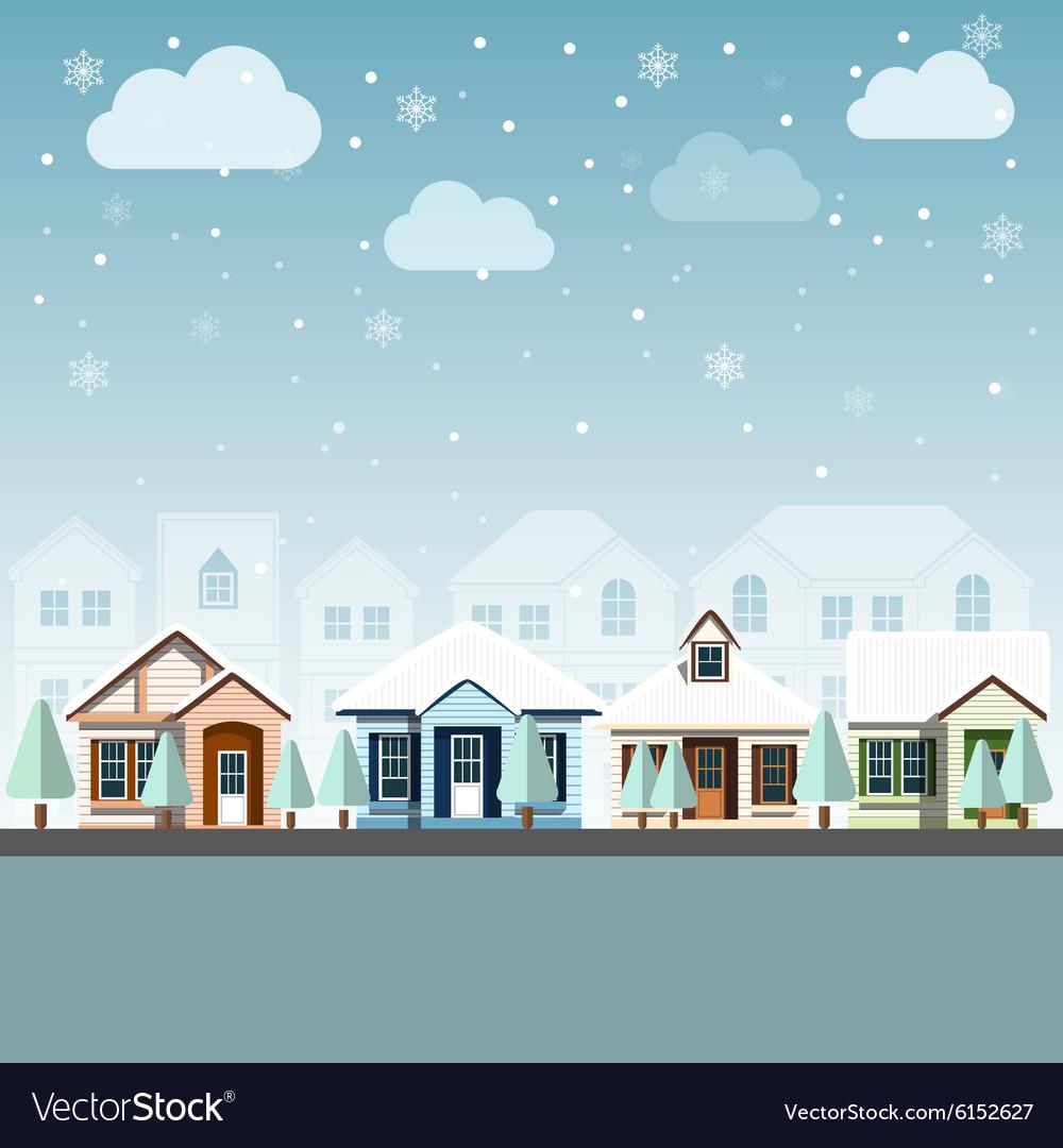 Cityscape winter 2