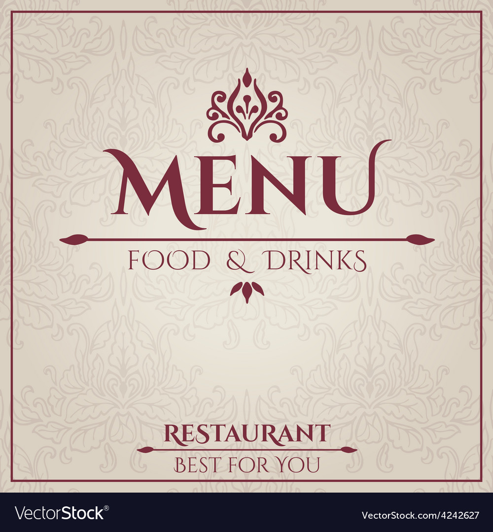 elegant restaurant menu design royalty free vector image