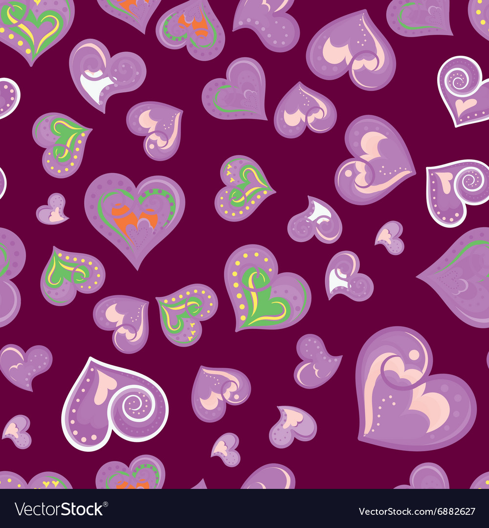 Fun seamless vintage love heart background in