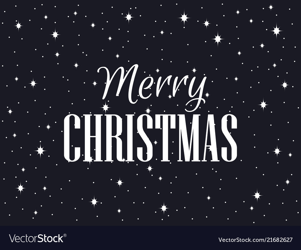 Merry Christmas Images Black And White.Merry Christmas Black Background With Snowflakes