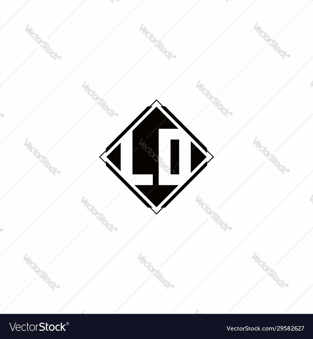 Monogram logo design with diamond square shape