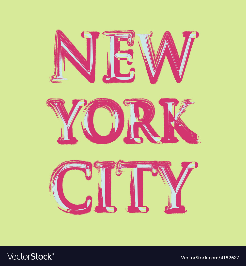 New york flag typography t-shirt graphics vector image