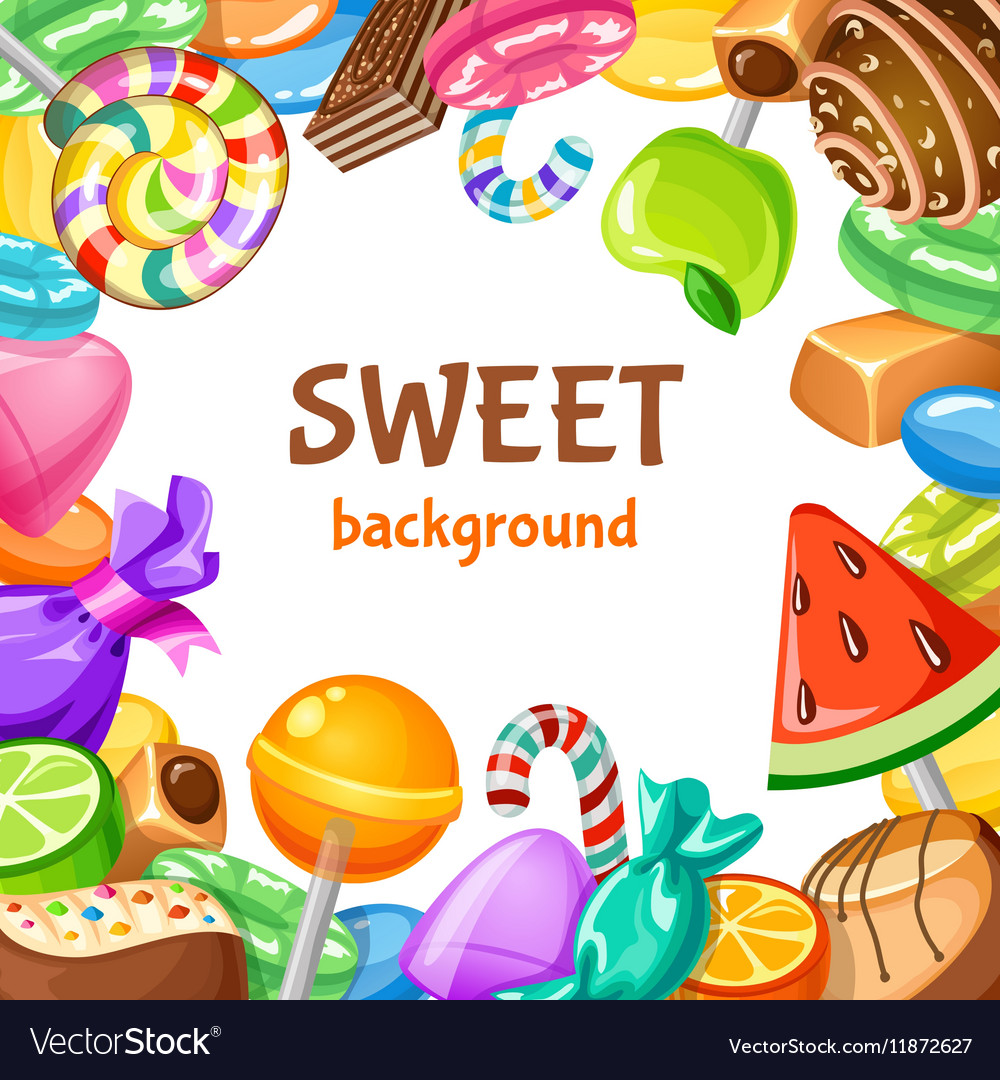 sweet candy background royalty free vector image