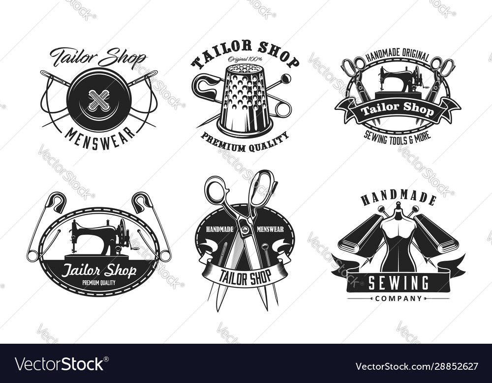 Tailor shop dressmaker tailoring sewing icons