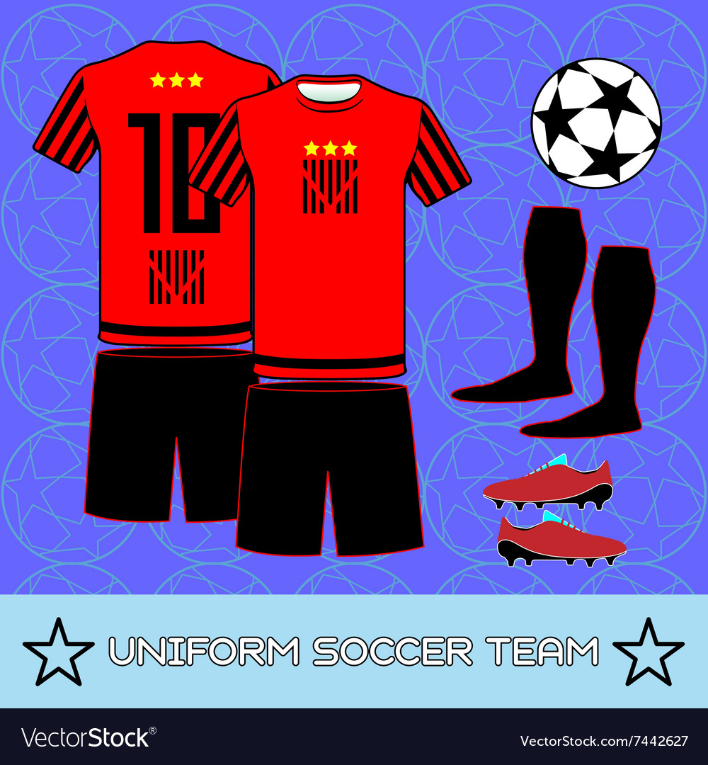 00d275ffbc5 Uniform Soccer Team Sportswear Template Royalty Free Vector