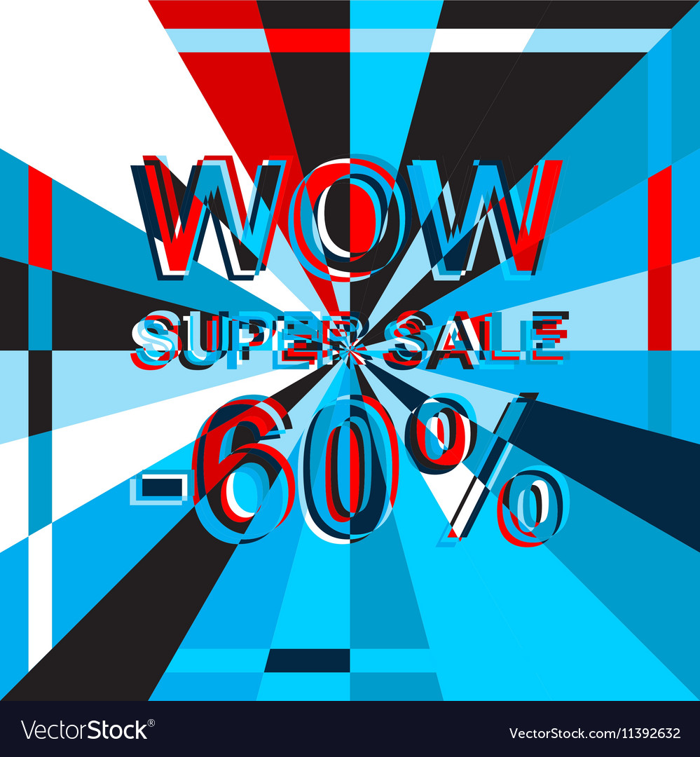 Big ice sale poster with WOW SUPER SALE MINUS 60