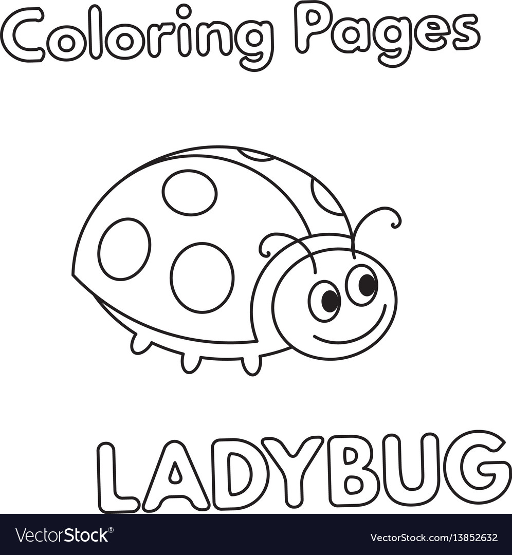 Cartoon Ladybug Coloring Book Royalty Free Vector Image