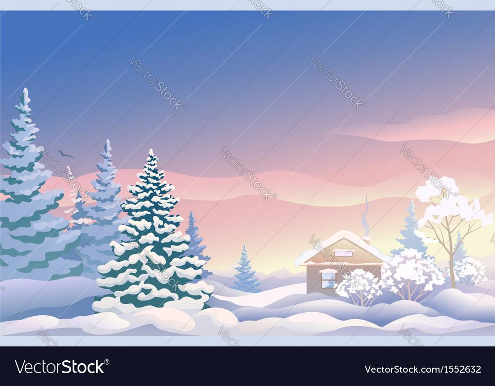 Christmas sunrise royalty free vector image vectorstock