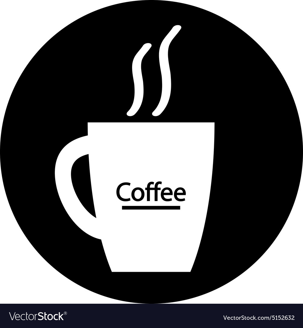 Coffee cup symbol button