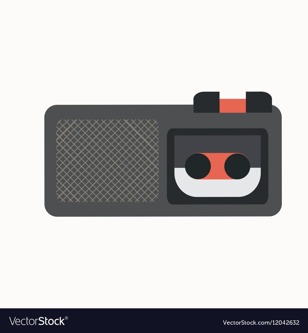Dictaphone flat icon