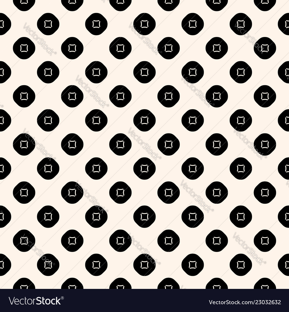 Geometric seamless dotted squares cloth pattern
