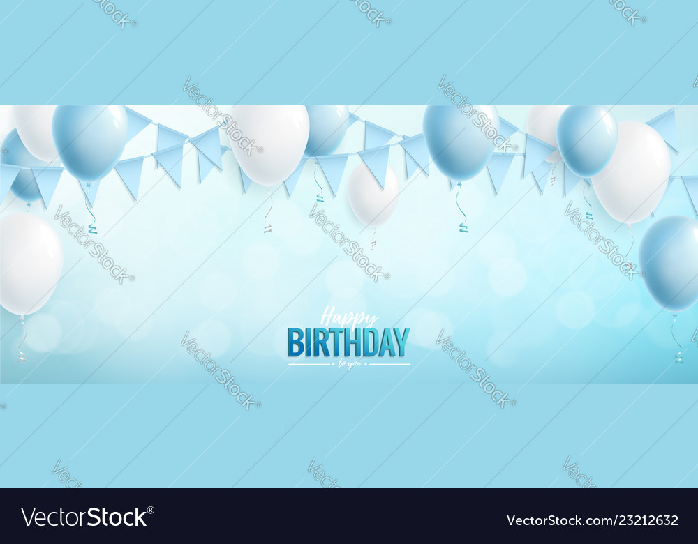 Happy birthday greeting or invitation card with