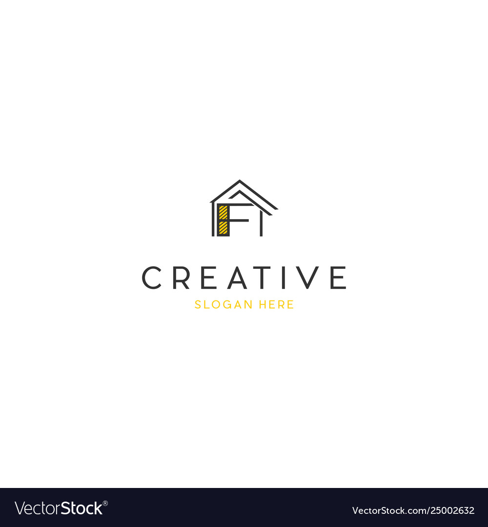 Letter F Home Build Creative Business Logo Design