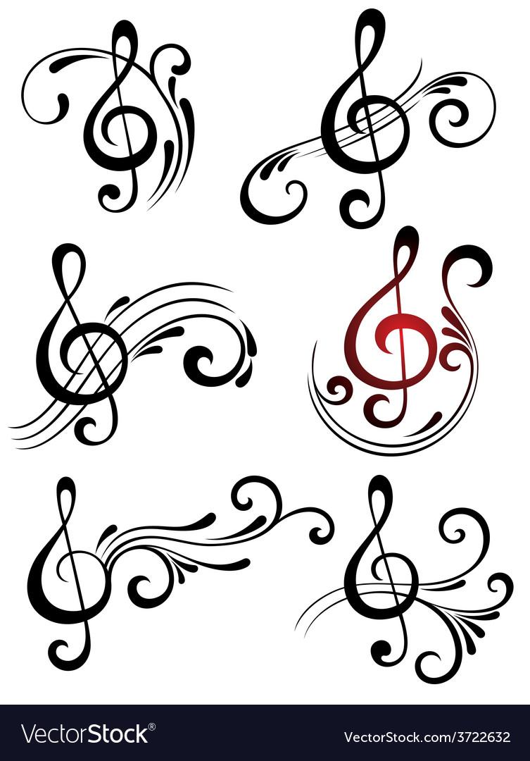 music symbols royalty free vector image vectorstock
