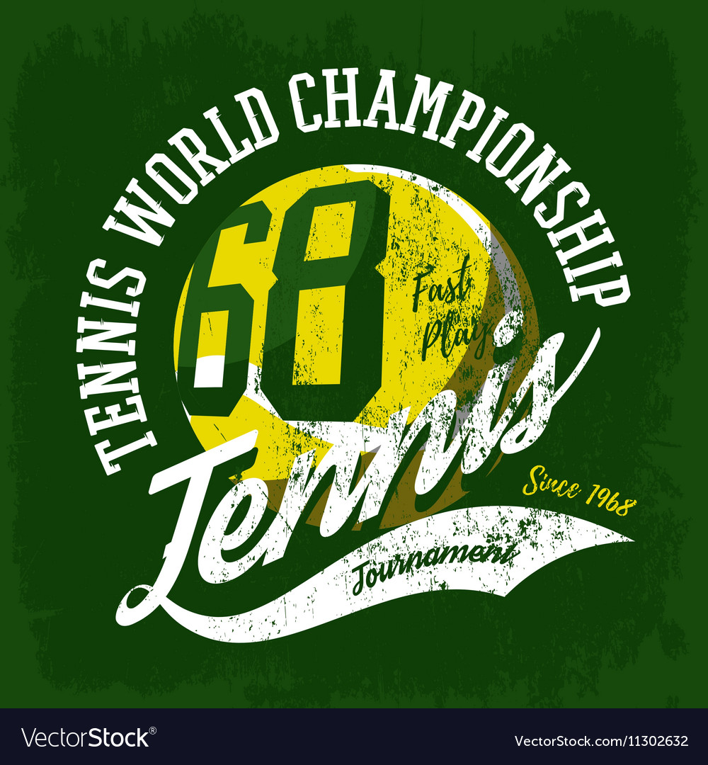 Tennis ball sportswear design or tournament logo